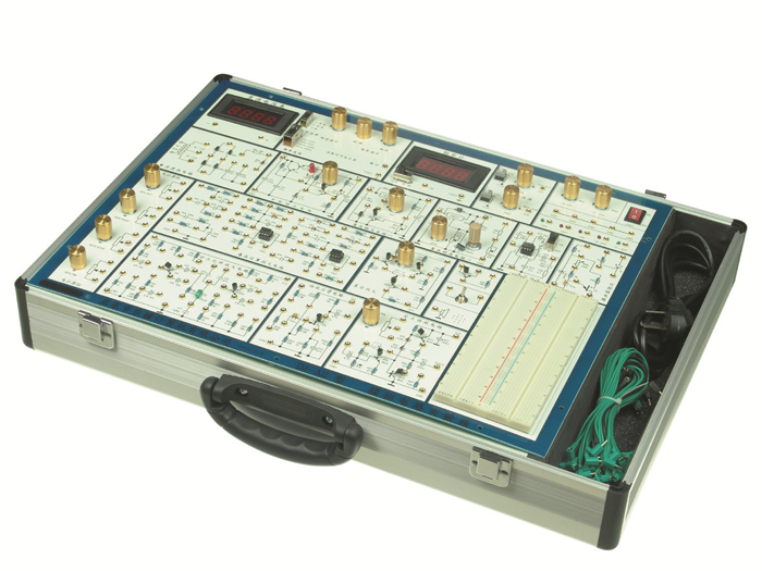 ④数字式频率计(0~300khz)和直流电压表(0~30v)   ⑤分立元件电路